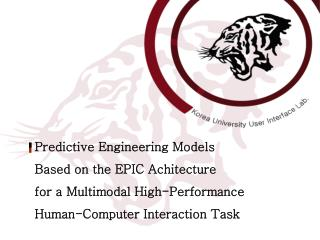 Predictive Engineering Models  Based on the EPIC Achitecture  for a Multimodal High-Performance