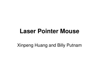 Laser Pointer Mouse