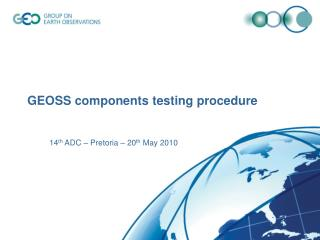 GEOSS components testing procedure