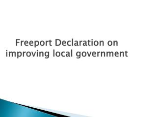 Freeport Declaration on improving local government