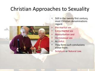Christian Approaches to Sexuality