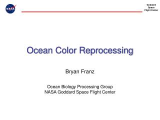 Ocean Color Reprocessing