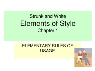 Strunk and White Elements of Style Chapter 1