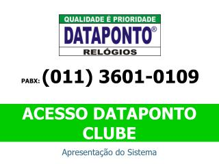 ACESSO DATAPONTO CLUBE