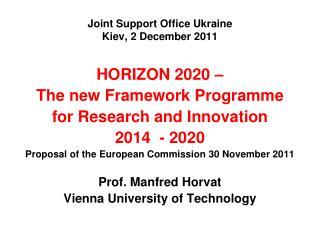 Joint Support Office Ukraine Kiev, 2 December 2011