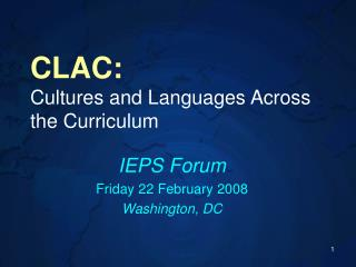 CLAC: Cultures and Languages Across the Curriculum
