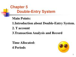 Chapter 5 Double-Entry System
