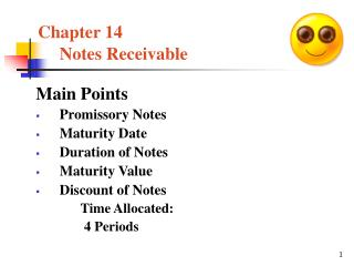 Chapter 14 Notes Receivable