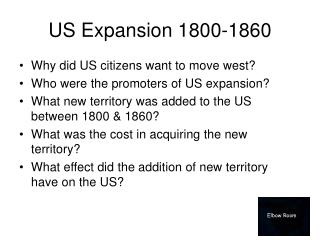 US Expansion 1800-1860