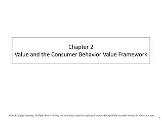 Chapter 2  Value and the Consumer Behavior Value Framework