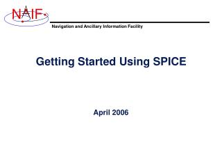 Getting Started Using SPICE