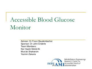 Accessible Blood Glucose Monitor