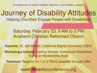 A conference for church leaders, teachers,  youth leaders,  parents