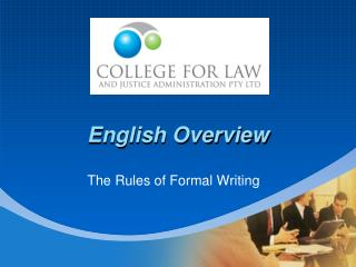 English Overview