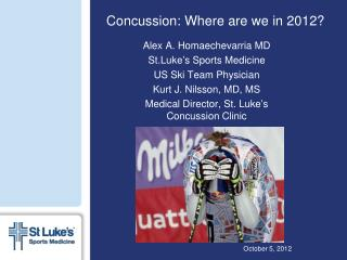 Concussion: Where are we in 2012?