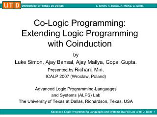 Co-Logic Programming: Extending Logic Programming with Coinduction