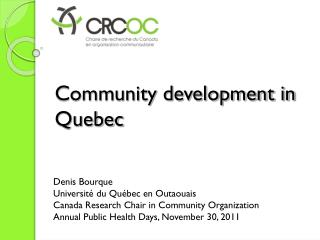 Community development in Quebec