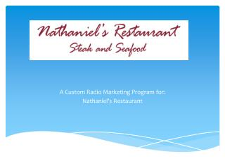 A Custom Radio Marketing Program for: Nathaniel's Restaurant
