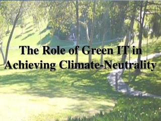 The Role of Green IT in Achieving Climate-Neutrality