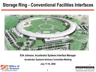 Storage Ring - Conventional Facilities Interfaces