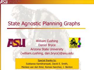 State Agnostic Planning Graphs
