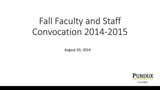 Fall Faculty and Staff Convocation 2014-2015