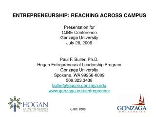 Hogan Entrepreneurial Leadership Program Gonzaga University