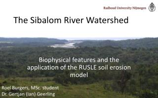 The Sibalom River Watershed