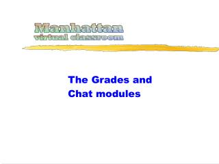 The Grades and Chat modules