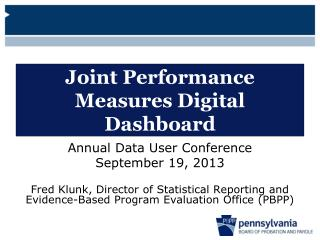 Joint Performance Measures Digital Dashboard