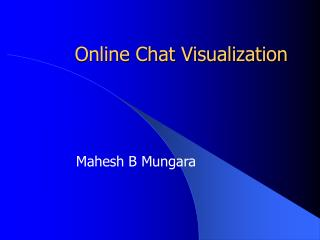 Online Chat Visualization