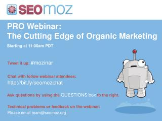 PRO Webinar: The Cutting Edge of Organic Marketing