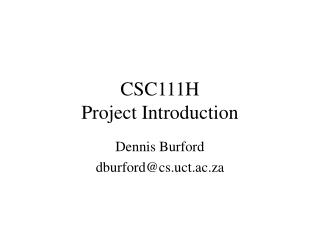 CSC111H Project Introduction