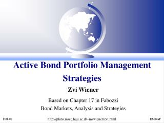 Active Bond Portfolio Management Strategies