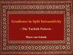 Gradience in Split Intransitivity