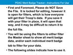 PDAC Merit Badge Tracker Instructions For Use