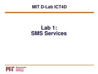 Lab 1: SMS Services