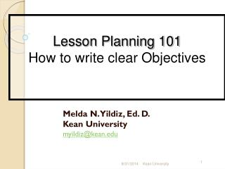 Melda N. Yildiz, Ed. D. Kean University myildiz@kean