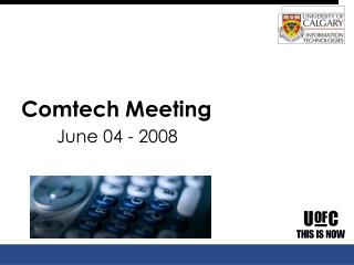 Comtech Meeting June 04 - 2008