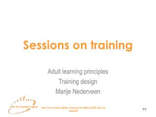 Sessions on training