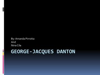 George-Jacques Danton