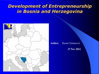 Development of  Entrepreneurship  in Bosnia and Herzegovina