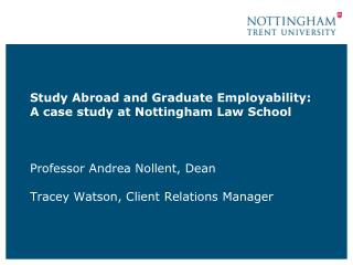 Nottingham Law School and Context