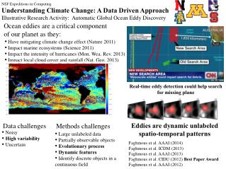 NSF Expeditions in Computing Understanding Climate Change: A Data Driven Approach
