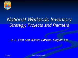 National Wetlands Inventory Strategy, Projects and Partners U. S. Fish and Wildlife Service, Region 1/8