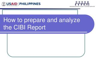 How to prepare and analyze the CIBI Report