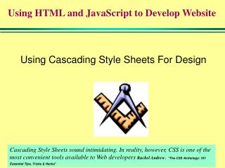 Using Cascading Style Sheets For Design