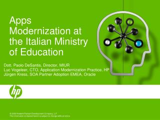 Apps Modernization at the Italian Ministry of Education