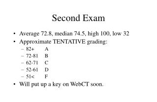 Second Exam