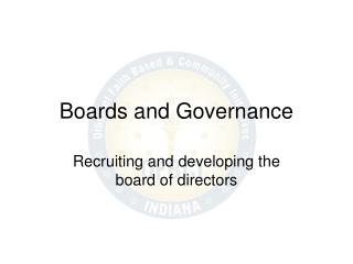 Boards and Governance